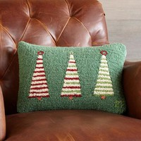 Three Trees Hooked Pillow