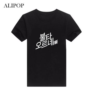 ALIPOP KPOP BTS Bangtan Boys Young Forever Korean Album Shirts Cotton Clothes Tshirt T Shirt Short Sleeve Tops T-shirt DX318