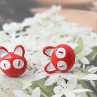 European Big Cat Eyes Earrings