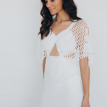 perry lace dress - ivory