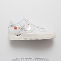 [ Free  Shipping ]NIKE Off-White X Nike Air Force 1 AF1 Basketball Shoes