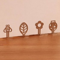 High Quality 10pcs/lot Mini Metal Bookmark Clips Cute Cartoon Animal Flower Cartoon Plated Sliver Bookmarks Stationery Gift Book