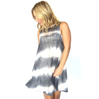 Crashing Waves Tie Dye Shift Dress