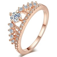 Rose Gold Tiara Promise Ring
