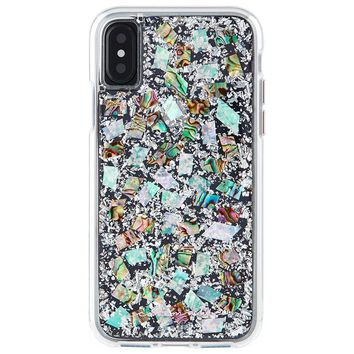 Case-Mate iPhone X Case - KARAT - Real Mother of Pearl - Military Drop Protection - Slim Protective Design for Apple iPhone 10 - Mother of Pearl