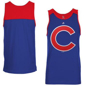 acead793c0051 Majestic Chicago Cubs Game Day Tank Top - Royal Blue