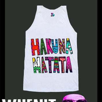 worldwide shipping just 7 days HAKUNA MATATA shirt singlet tank top 10319