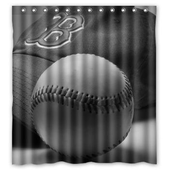 Cool Major L Baseball Custom Made Design Bath Waterproof Shower Curtain Bathroom Products Curtains 48x72, 60x72, 66x 72 inches