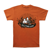 All Time Low Men's  Put Up Or Shut Up Artwork T-shirt Orange Rockabilia