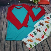 Preorder-Unisex Moose pj set( 6mth-adult)