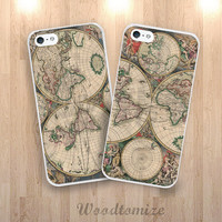 Vintage old world map phone case for iPhone 6, iPhone 6 Plus, iPhone 4/5s/5c, Samsung s3, s4, s4 active, S5, S5 active, Note 3, Note 4 (N46)