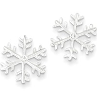 925 Sterling Silver Sparkling CZ Unique Snowflake Stud Earrings