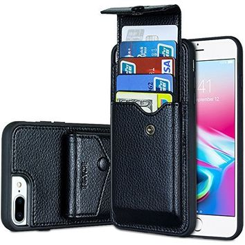 iPhone 8 Wallet Case, iPhone 7 Wallet Case, ZVE iPhone 7 Case / iPhone 8 Case with Card Holder, Protective Wallet Leather Case With Credit Card Holder Slot for Apple iPhone 7 / 8 (4.7 inch )- Black