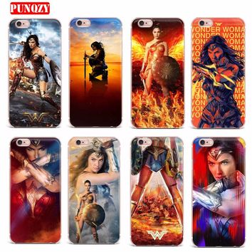 Case FOR iPhone 7 X 6 5S 8 7 Plus Soft TPU Transparent Cases Cover Lovely Wonder Woman Series Mobile Phone Shell Patterned Style