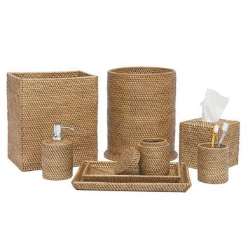 Dalton Rattan Bathroom Accessories