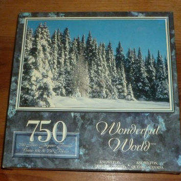 Wonderful World Snow White Forest in Knowlton Quebec Canada 750 Piece Jigsaw Puzzle