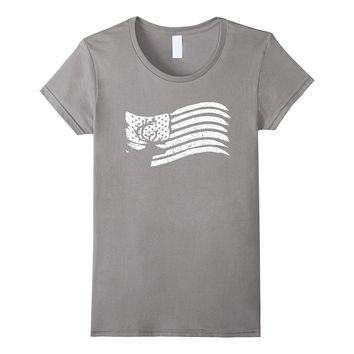 American Flag T-Shirt With Reindeer Vintage Look