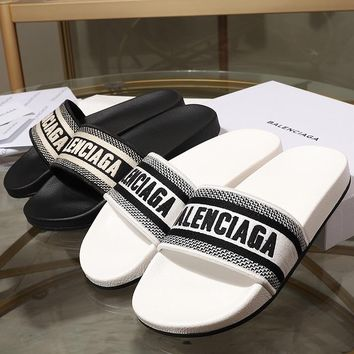 Balenciaga Embroidered sandals