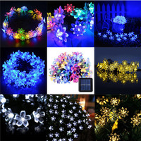 30 LED Blossom Flower Solar Powered Garden Fairy String Lights Outdoor Lamp Home Decor
