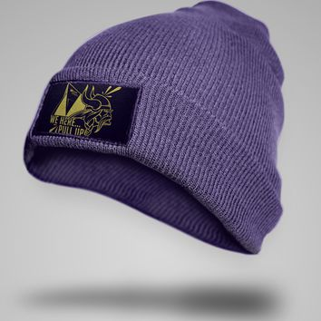 Minnesota Vikings Super Bowl Patch Beanie Hat Kool Customs & Apparel Limited Time