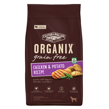 Castor and Pollux Organix Grain-Free Chicken and Potato Recipe Adult Dry Dog Food -1x12 LB-
