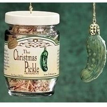 Christmas Ornament Set - Jar And Pickle