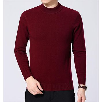 Cashmere Sweater Men Merino Wool Pullover Men Winter Thick Warm Turtleneck Men Sweaters Casual Plus Size Pull Homme