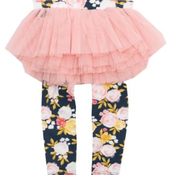 RYB Painted Garden Tutu Leggings