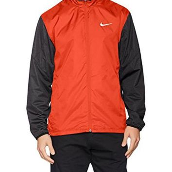 DCCKG2C Nike Full Zip Shield Golf Jacket 2016 Max Orange/Black Heather/Black Medium
