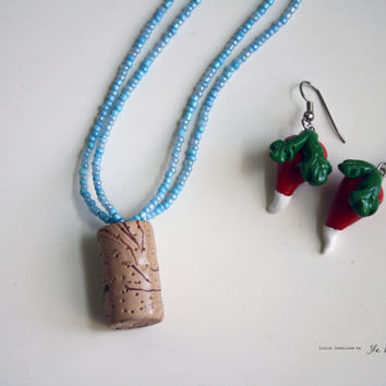 Luna Lovegoods Raddish Earrings Butterbeer Cork