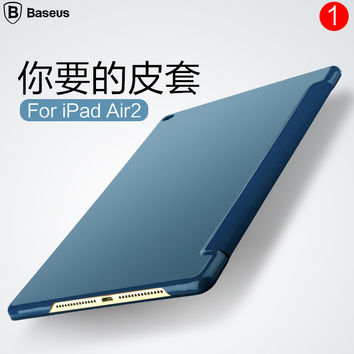 "Air2 Original Brand Baseus Smart Leather Case Smart Cover For Apple iPad Air 2 6 9.7"" Tablet Case With Auto Sleep/Wake Up +gift"