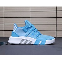 Adidas EQT BASK ADV Breathable Comfortable Couple Running Shoes F-A0-HXYDXPF Blue
