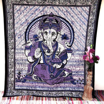 Lord Ganesha Tapestry, Indian Lord Tapestries, Bohemian Tapestries, Tapestry Wall Hanging, Tree of life, Dorm Bed Spread, Wall Art