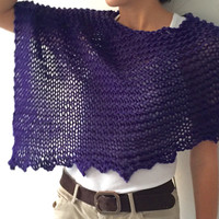 Wool poncho, wool poncho sweater, cozy purple poncho, winter trends, handknit poncho, women fashion, winter knit fashion, loose knit