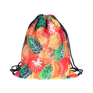 Drawstring Backpack in jelly candy pattern in candy color for Cinch bag