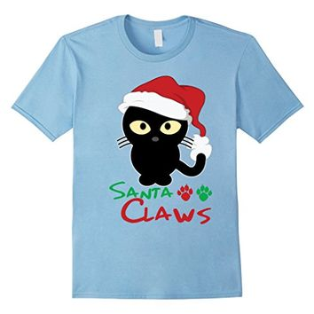 Santa Claws T-shirt - Funny Cat Santa Christmas Shirt