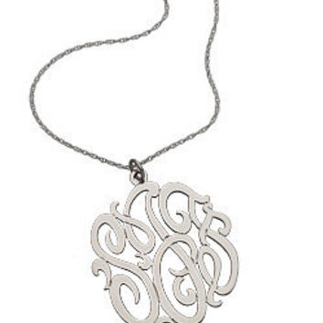 Max & Chloe - West Avenue Jewelry Monogram Pendant - Max & Chloe