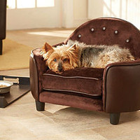 Luxury Black Headboard Bed For Small Dogs