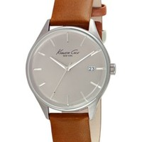 Kenneth Cole New York Men's Brown Leather Strap Watch 42mm 10029307 | macys.com