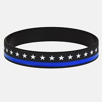 Stars Thin Blue Line wristband