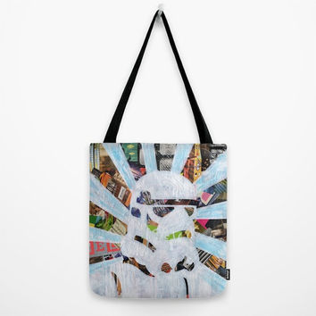 Star Wars Tote Bag, Storm Trooper Canvas Tote Bag, Womens Totes, Shopping Tote Beach Tote, Birthday Gift Idea for her, The force awakens