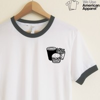 AA Lisa Burger + Fries Ringer Tee