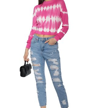 Gab & Kate Tie Dye Long Sleeve Top