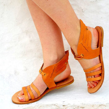 "Greek Goddess Sandals,  wings Sandals, Ancient Greek Sandals, Genuine leather shoes, ""Hermes 2"" Summer shoes"