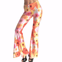 Daisy Palazzo Boho Hippie Pants Bell Bottom Leg