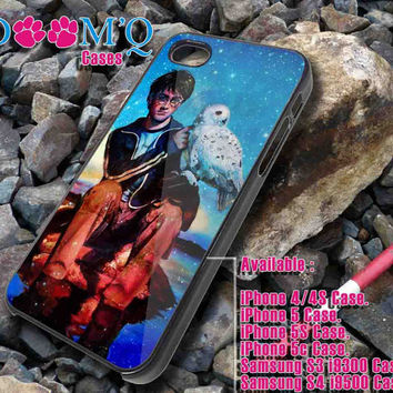 Harry potter with Hedwig iPhone case, iPhone 4/4S, 5, 5S, 5C Case, Samsung S3, S4 Case By Doomqcases for Accessories beautiful