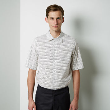 Short Sleeve Printed Polo Neck Shirt by Marni