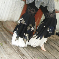 Pants Ruffle Bellydance Tribalesque by Mean Kitty Wear