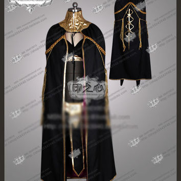 Anime Fire Emblem: Awakening Tharja Cosplay Costume Outfit Stockings+Bra+Headdress+Cloak+Belt