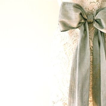 Wedding dress sash, silk sash